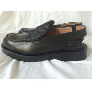 NEW Paul Smith leather slingback loafer